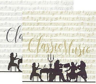 Servietten Musik-Motiv,20er,33cm 3lag.
