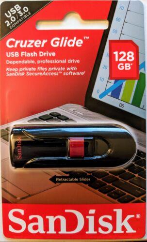 SanDisk Cruzer Glide CZ60 128GB USB 2.0 Flash Drive Memory Stick SDCZ60-128G-B35