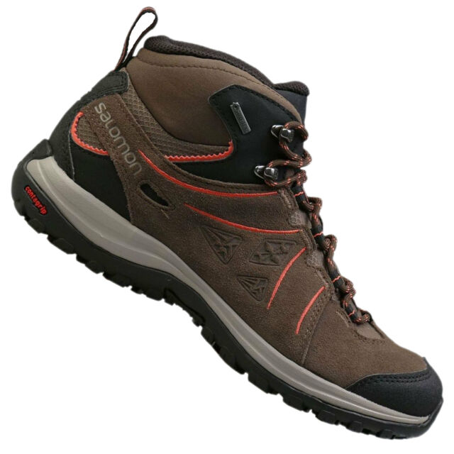 d30011e5257d26 Salomon Ellipse 2 Mid Leather Gore-tex Women s Hiking BOOTS Outdoor ...