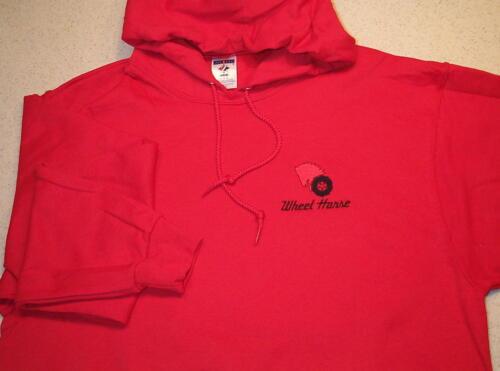 4 colors Hooded Pullover or Full Zip Hooded Sweatshirt Wheel Horse Pullover