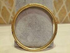 Vintage Chinese signed 24k yellow gold 96.5% diamond cut bangle bracelet 15.2g