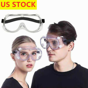 Protective Eye Goggles Safe Lab Glasses Eyewear Clean Lens US STOCK