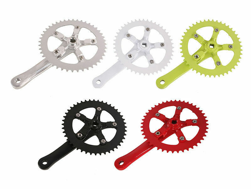 Alloy 44T 170mm Fixed Gear Bike Crankset Single Speed Bicycle Chain Wheel Riding