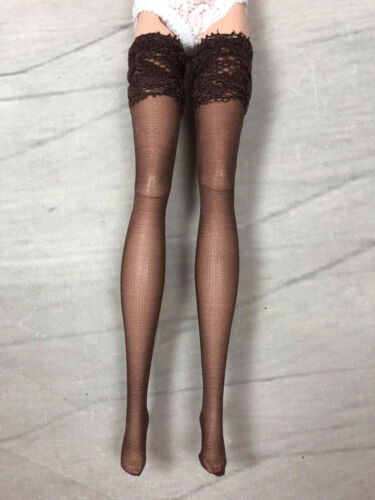"""CHOCOLATE BROWN stockings hose for 12/"""" Fashion Royalty Barbie similar"""