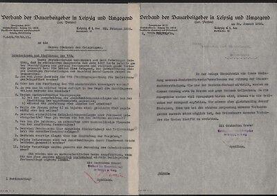 2 X Brief 1928 Hell Leipzig Verband Der Bauarbeitgeber Bequem Zu Kochen