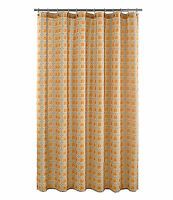 J. Queen York Roundabout Shower Curtain Tangerine