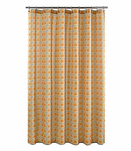 Image Is Loading J Queen New York Roundabout Shower Curtain Tangerine