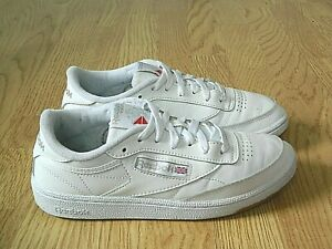 Reebok Club C Ladies Casual Leather Trainers White Size 5 / 38