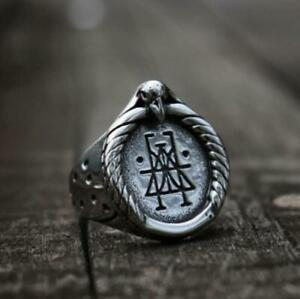 Vintage-Eagle-925-Silver-Rings-for-Men-Jewelry-Wedding-Party-Ring-Gift-Size6-13