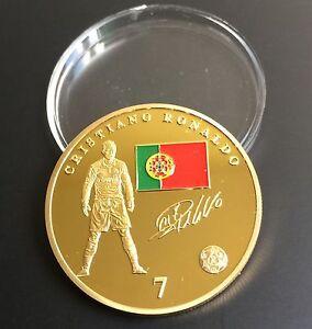 Cristiano-Ronaldo-Real-Madrid-Gold-Plated-Souvenir-Coin