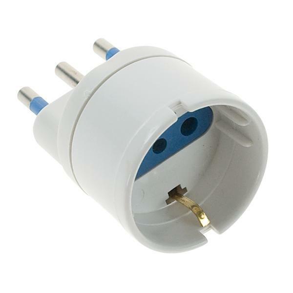 Adattatore elettrico spina 16A presa schuko bianco GE0307-10 carico max 1500W