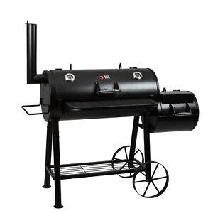 Smoker-Longhorn-BBQ-Grill-Grillwagen-Raeucheroffen-Grilltonne-B-Ware-Barbecue