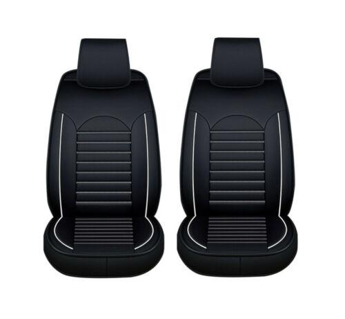 1+1 eleganter Autositzbezug Schwarz weiß Sitzbezüge Kunstleder Schonbezüge