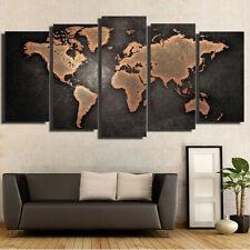 5pcs unframed vintage world map canvas print wall art painting home 5pcs unframed vintage world map modern canvas print wall art painting picture gumiabroncs Gallery