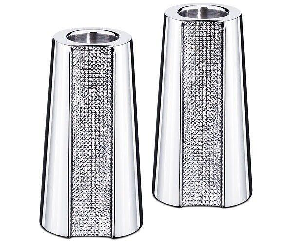 Swarovski Crystal Ambiray Candleholders Small Set Of 2 5021576