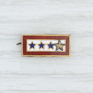 Sons-in-Service-Gold-Star-Pin-10k-gold-Vintage-Military-Keepsake-4-Stars