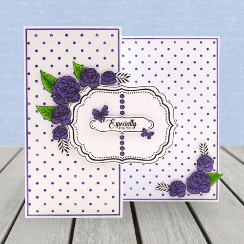 Hunkydory Alphabet Stamps BLOSSOMING BLUES /'For the Love of Stamps/' Set Incl
