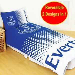 Details about NEW EVERTON FC FADE SINGLE DUVET QUILT COVER SET BOYS KIDS  FOOTBALL BEDROOM