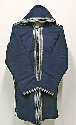Men Moroccan winter Baja Jerga Jacket Hoodie.Festival Hippy Tribal.wool.SIZE-XL
