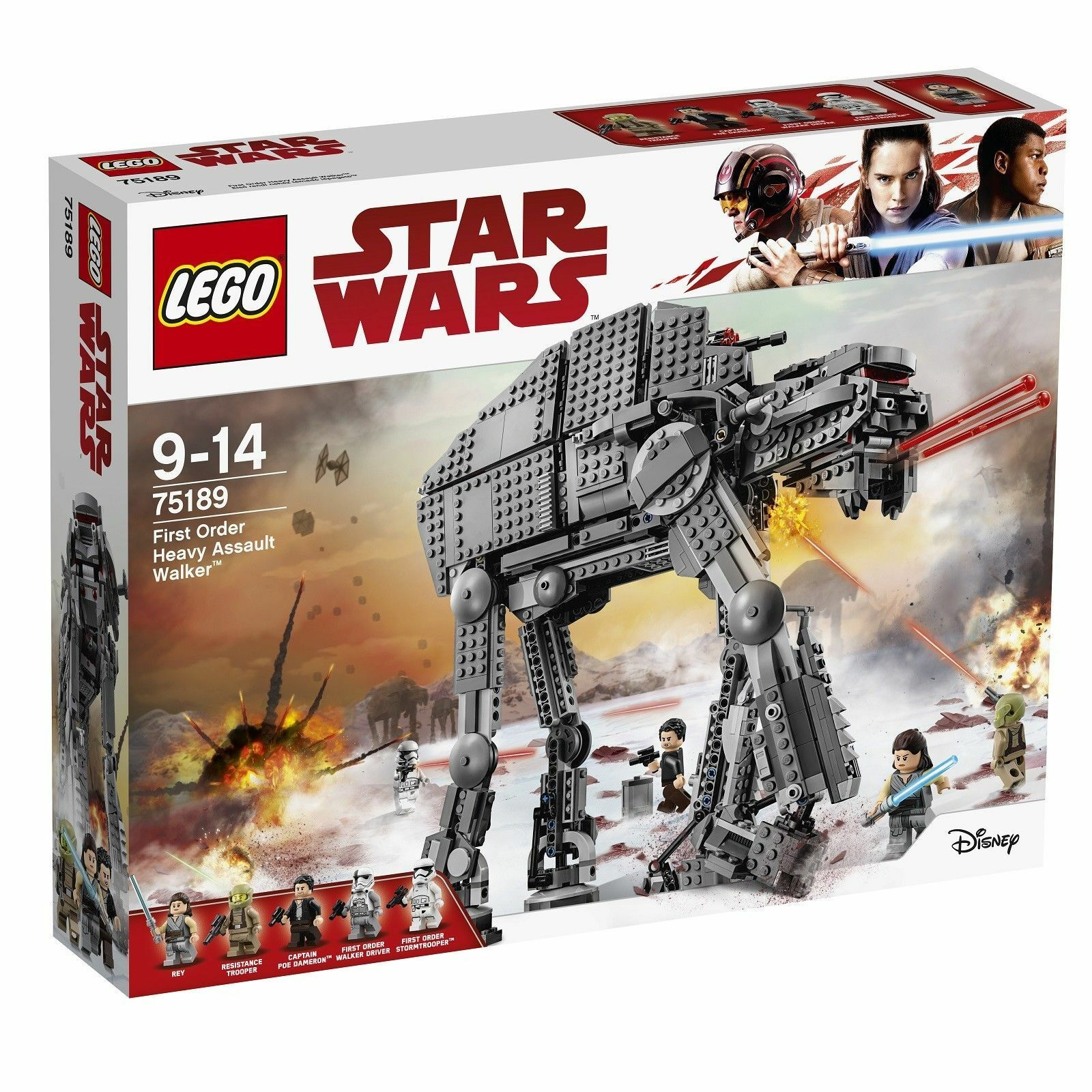 LEGO 75189 Star Wars First Order Heavy Assault Walker 2017 New and Sealed