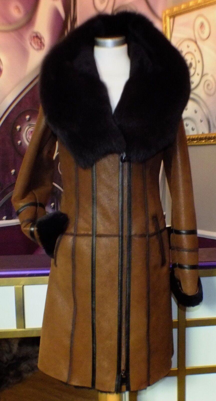 Luxus Designer Damen echter Lammfellmantel m m m  Toskana  Fell mit Kapuze Gr.38 NEU | Vorzugspreis  | Zürich  | Up-to-date Styling  | Großhandel  | Online Outlet Shop  9b68ef