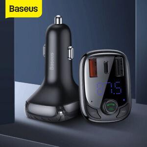 Baseus-Bluetooth-5-0-FM-Transmitter-Auto-MP3-Player-USB-KFZ-SD-AUX-QC4-0-Charge