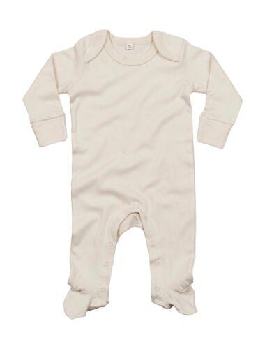 Organic Sleepsuit Baumwolle * BZ35 NEU BabyBugz: Unisex Strampler 0-12 Monate