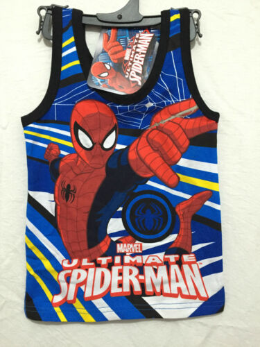 BNWT Boys Sz 4 Cool Spiderman Print Blue//Red Singlet//Muscle Tank Style Top