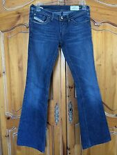 DIESEL LOWKY B.C 008BB STRETCH MEDIUM WASH DENIM FLARE JEANS 25x29 MADE IN ITALY
