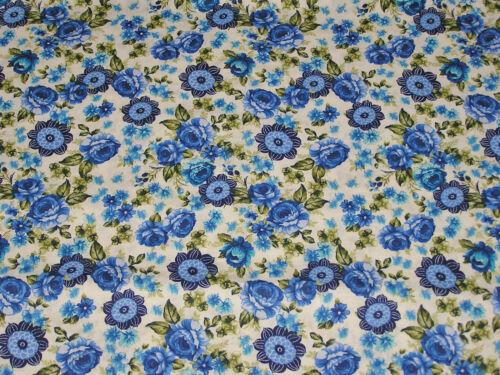 Shabby Tissu large 115 cm au mètre floral 100/% coton style liberty 130g