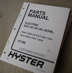 HYSTER e45 e50 e60 e65XM2 Electric FORKLIFT TRUCK Parts Manual book catalog  lift | eBay | Hyster Forklift Wiring Diagram E60 |  | eBay