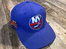 Vtg 90's New York Islanders American Needle Blockhead Snapback Hat Cap NHL