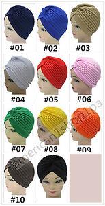 6eec94d9cdb Headband Full Head Cover Turban Head Wrap Hair Loss Chemo Yoga Hat ...