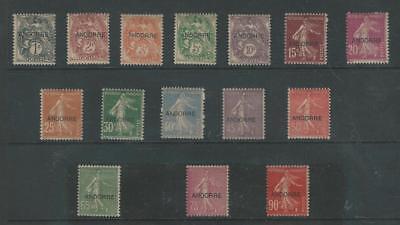 Andorra - Französisch, Briefmarke, #1-15 Postfrisch Mit Scharnier, 1931, Jfz