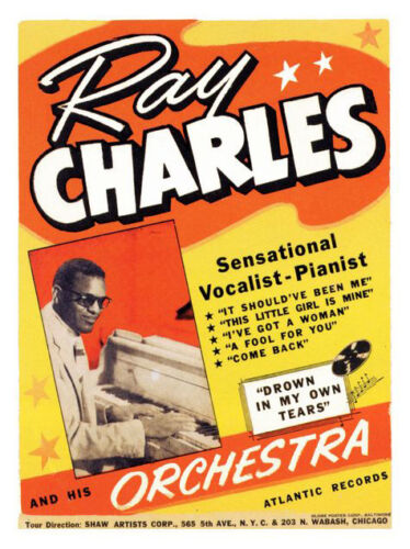 Ray Charles Rock n Roll Concert Print Framed /& Memo Board Available