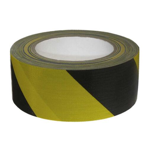 Warnband tessuto nastro nastro CARRO ARMATO TANK NASTRO ADESIVO Duct Tape Nero Giallo 50mm