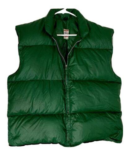 Vintage Frostline Kit Green Puffer Ski Vest Size L