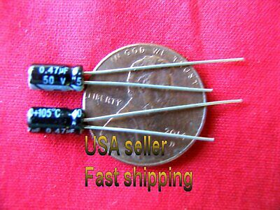 .47uf 50v Electrolytic Capacitors USA SHIP FREE SHIPPING 10 pc