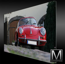 Porsche 356  - echte LEINWAND Bild Canvas ART Kunstdruck Leinwandbild Lounge
