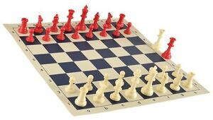 Image Is Loading Red Amp White Chess Pieces 20 034