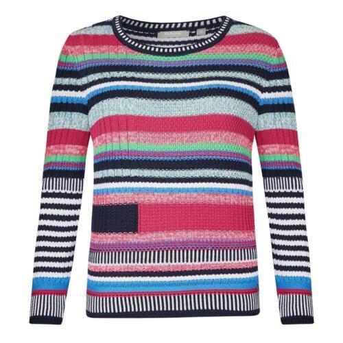 Rabe alla moda Donna Pullover con colorati Ringeln e struttura