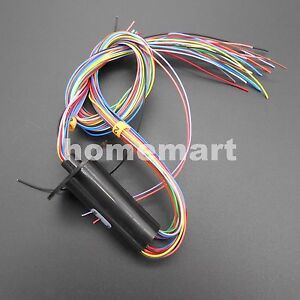 15mm 24 Circuits 24*2A(24 Wires,2A) Conductors Capsule Slip Ring 220V 250Rpm NEW
