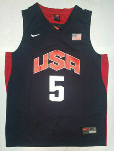 online store 66b43 5b4c7 Details about New KD Kevin Durant Jersey Men's 2012 London Olympics Team  USA # 5 NWT - Blue