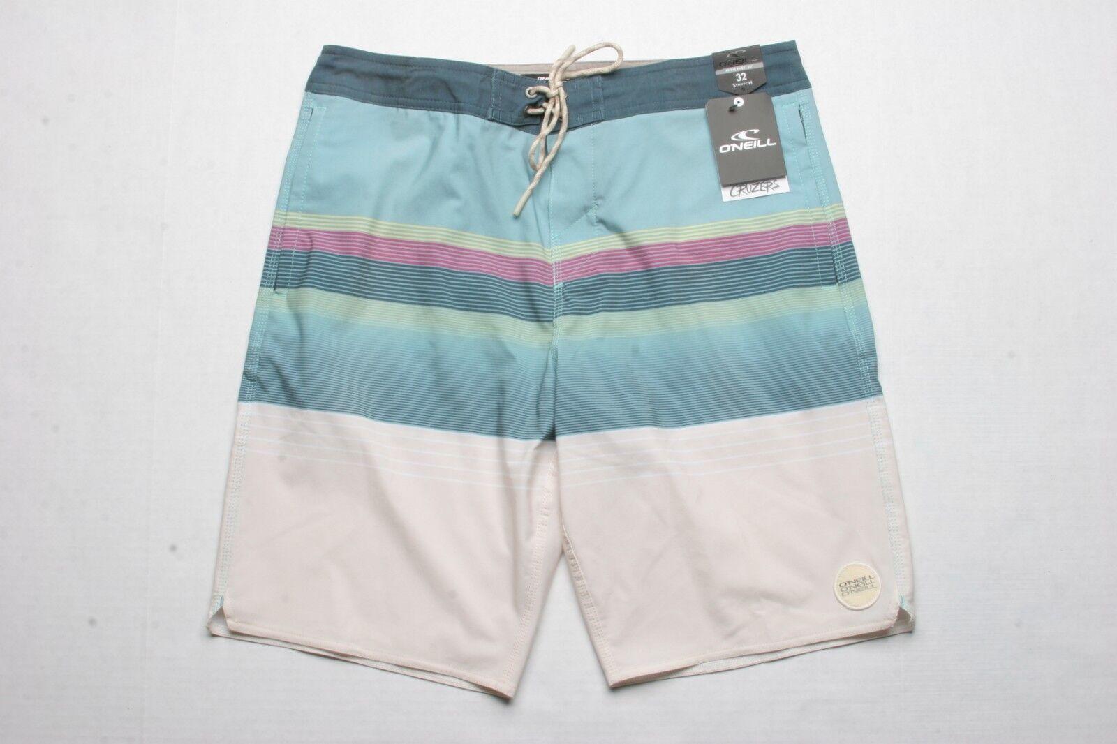O'Neill Stripe Club Cruzer Boardshort (32) Aqua