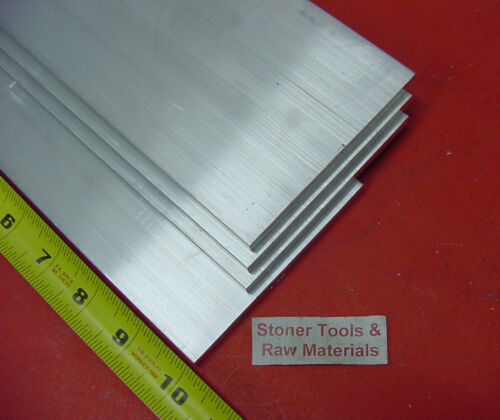 "3 pieces 1//4/"" X 6/"" ALUMINUM 6061 FLAT BAR 10/"" long T6511 Plate Mill Stock"
