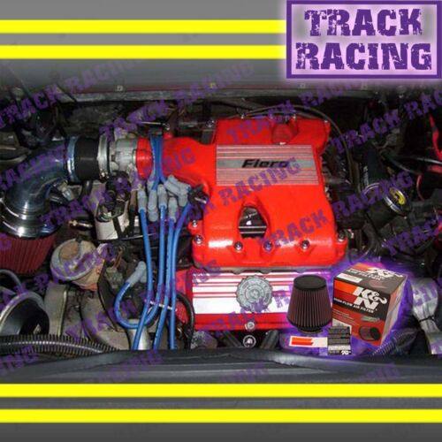 1984 1985 1986 1987 1988 PONTIAC FIERO SE GT 2.8L V6 AIR INTAKE+K/&N Black Red