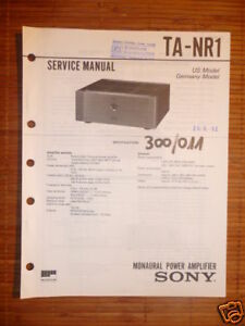Service Manual Sony Ta-nr1 Amplifier,original Attraktive Mode Tv, Video & Audio