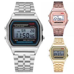 Simple-Men-Women-Digital-Display-Square-Dial-Alarm-Stopwatch-Wrist-Watch-Conven