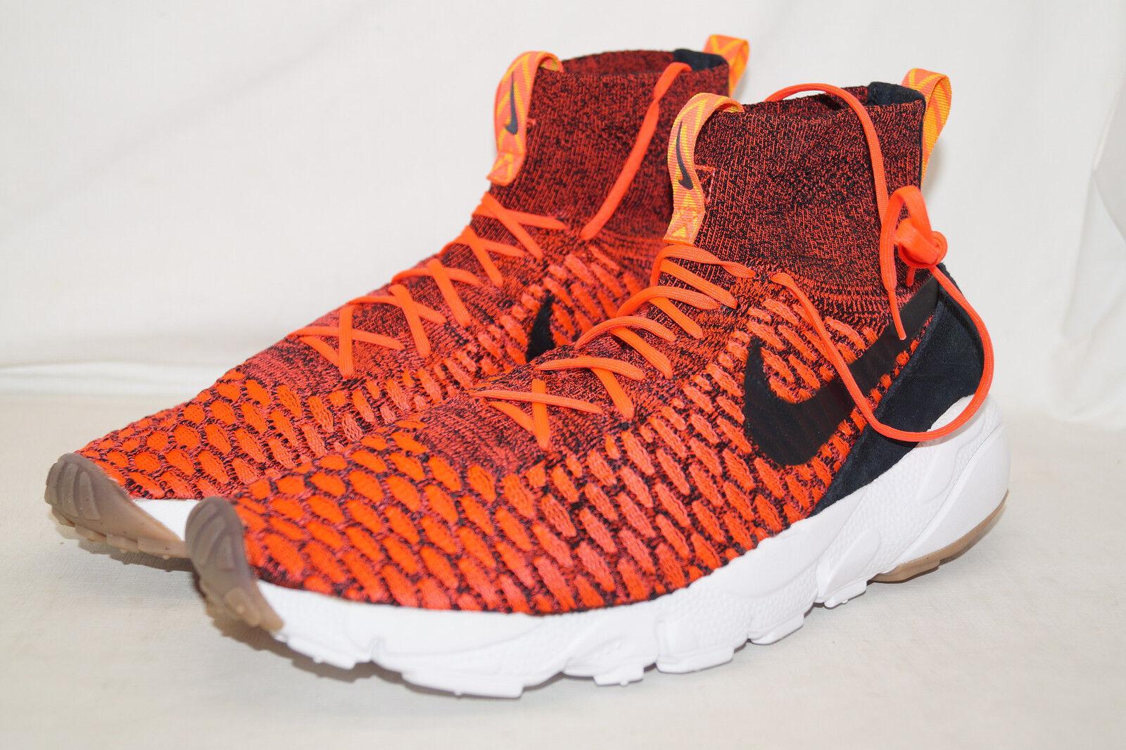 Nike Air Footscape Magista FLYKNITE EU 42,5 UK 8 SAMPLES rot schwarz 816560-600