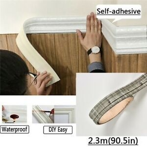 3d Selfadhesive Waterproof Pattern Wallpaper Border Wall Decor